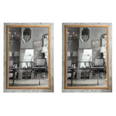 Pair of French Painted Mirrors