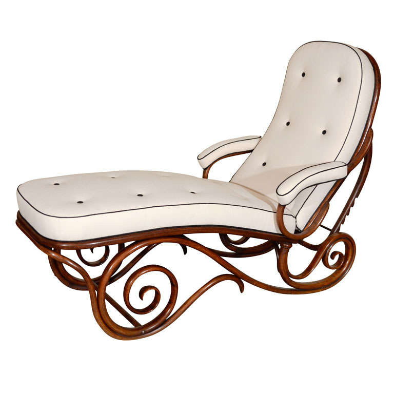 Viennese bentwood chaise longue at 1stdibs for Chaise bentwood