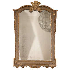 An Extremely Rare George II Carved Gilt Wood & Gesso Pier Mirror