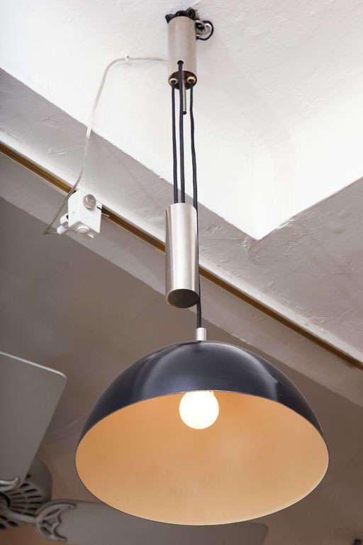 1930s Modernist German Counter Balance Ceiling Fixture 2