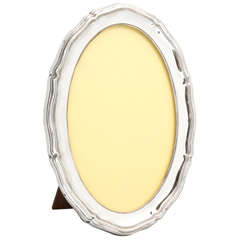 Sterling Silver Oval Picture Frame