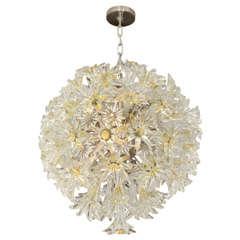 Large Venini Esprit Glass Flower Chandelier