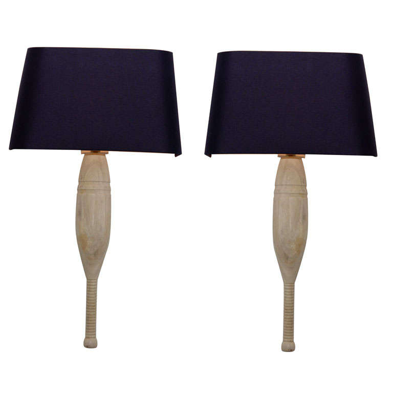 Pair of Wooden Sconces at 1stdibs