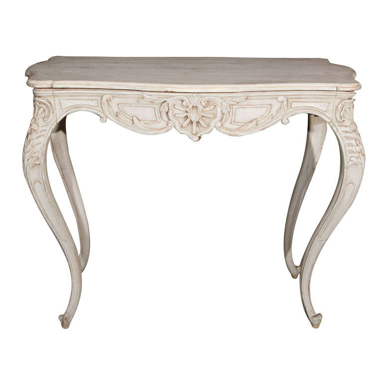 Painted Swedish Rococo Style Center Table
