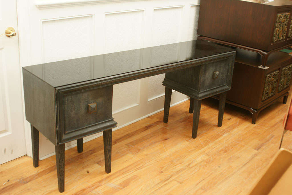 Elegant Vanity  Console Table By James Mont At 1Stdibs-7880