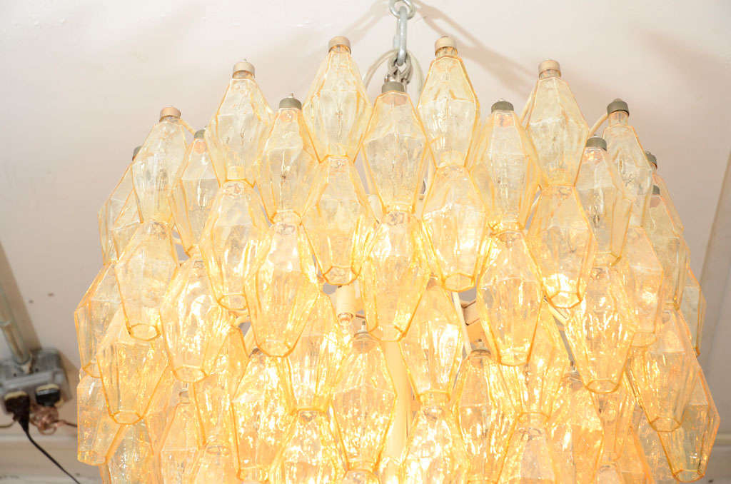 Grand Polyhedral Chandelier By Carlo Scarpa For Venini At