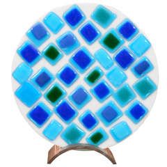 Decorative Mosaic Glass Plate