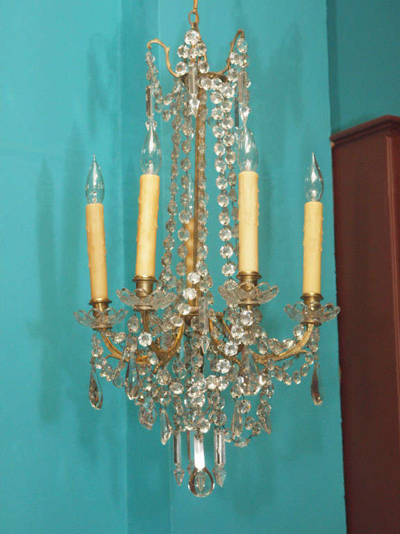 Small Directoire Style Crystal Chandelier At 1stdibs