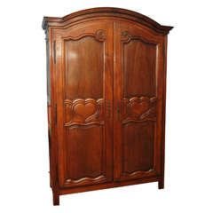 18th Century French Walnut Armoire