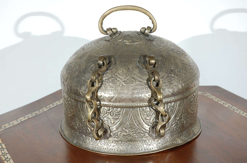 Turkish Brass Box with Lid 8