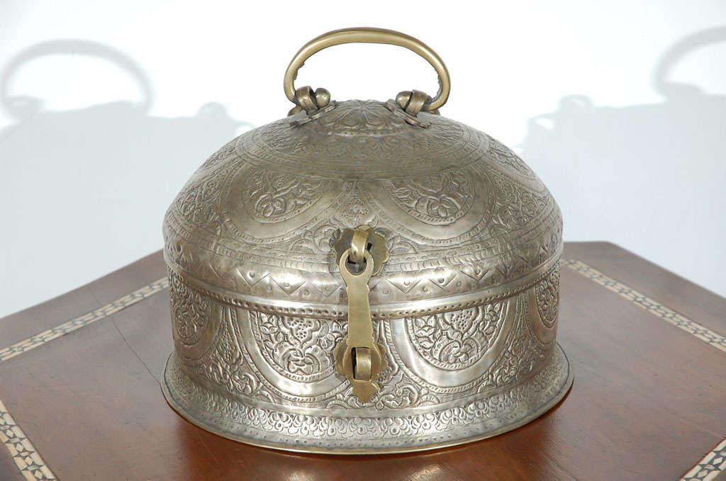 Turkish Brass Box with Lid 2