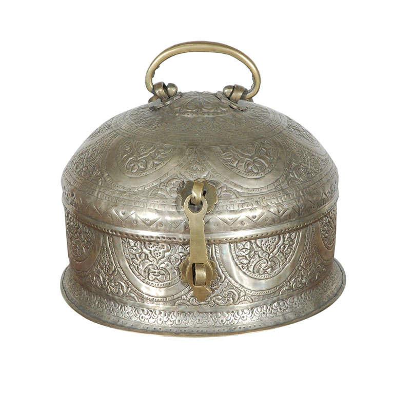 Turkish Brass Box with Lid 1