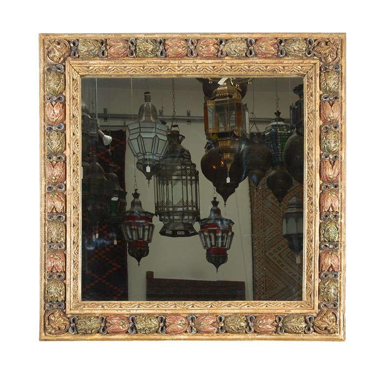 Moorish Style Hand-Carved Italian Mirror