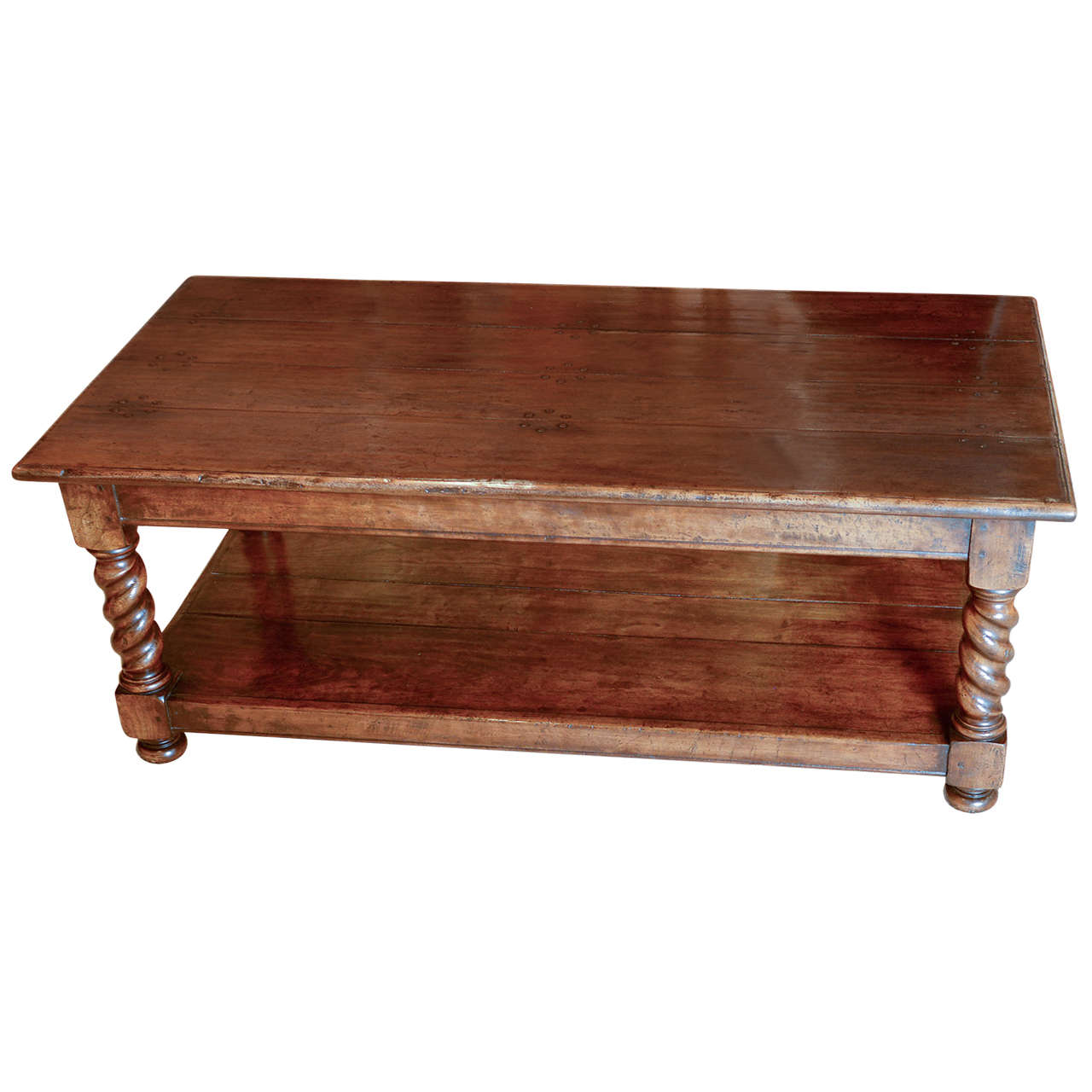 Barley Twist Coffee Table With Potboard At 1stdibs