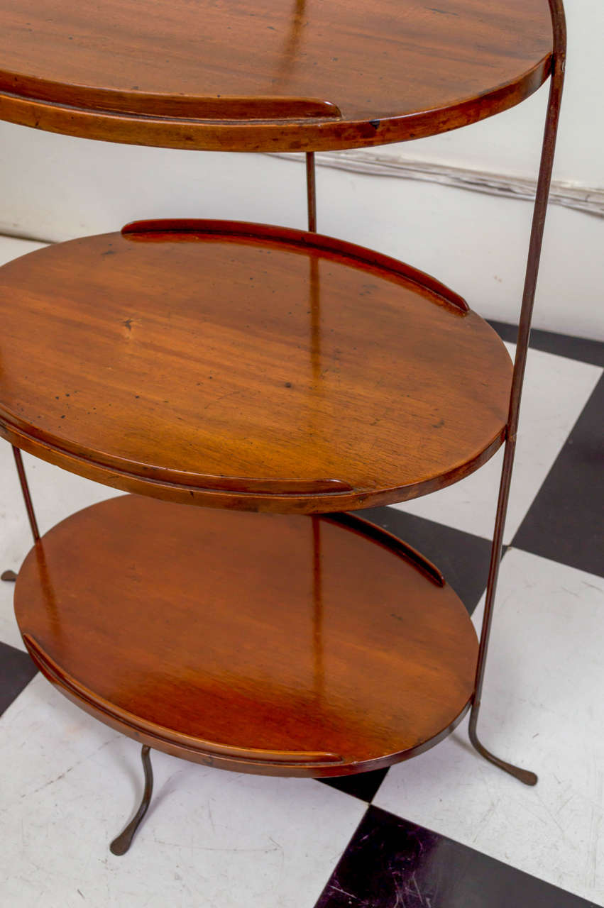 Mahogany 19th Century English Petite Three-Tier Server For Sale