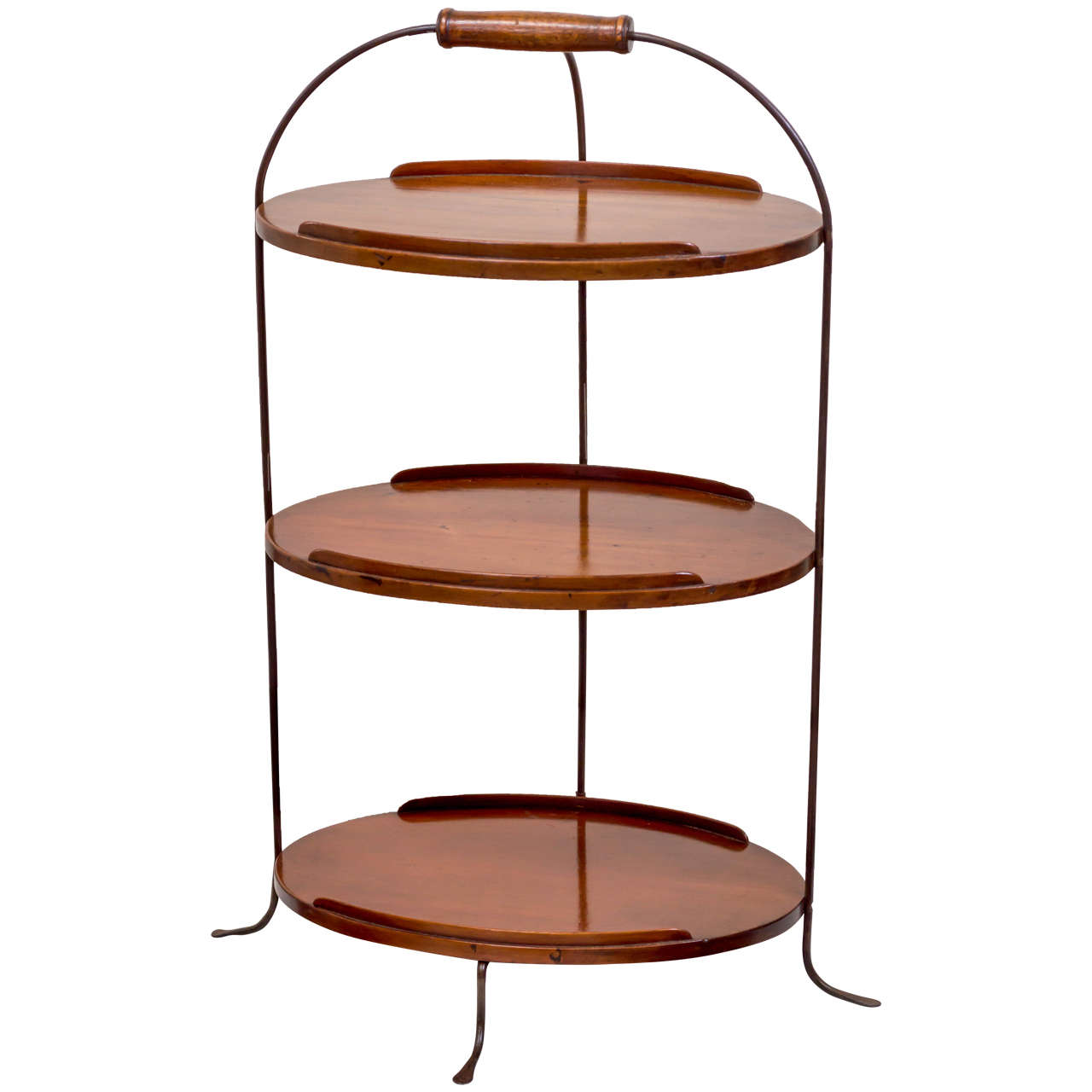 19th Century English Petite Three-Tier Server For Sale