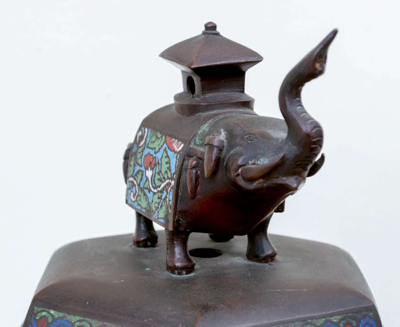 Qing Japanese Bronze and Champ Leve Censer For Sale