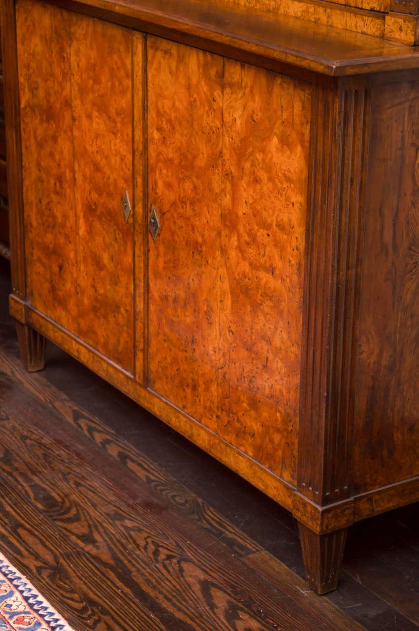 Walnut 19th Century German Biedermeier Cabinet For Sale