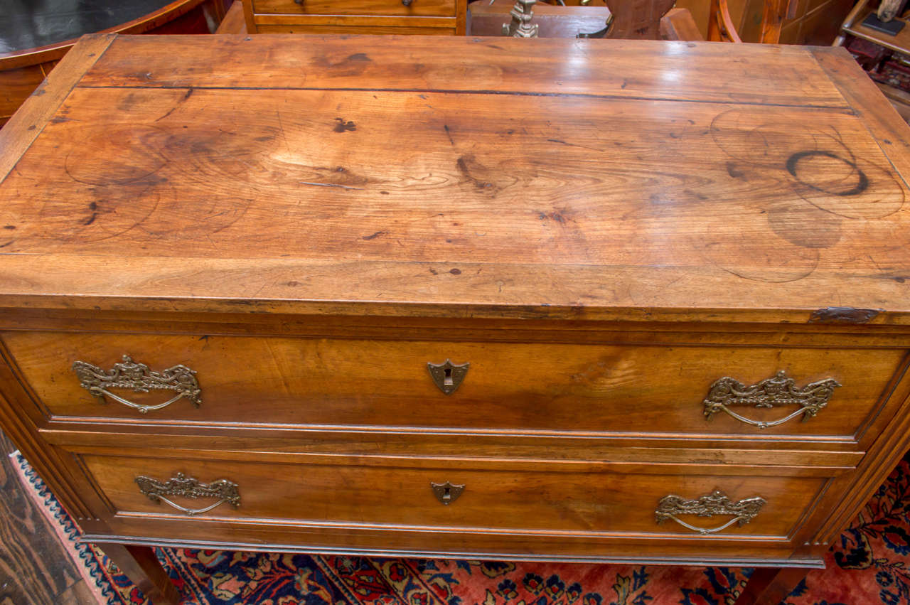 18th Century Italian Neoclassic Two-Drawer Commode In Good Condition For Sale In San Francisco, CA