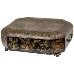 19th Century Chinese Export Lacquer and Gilt Box
