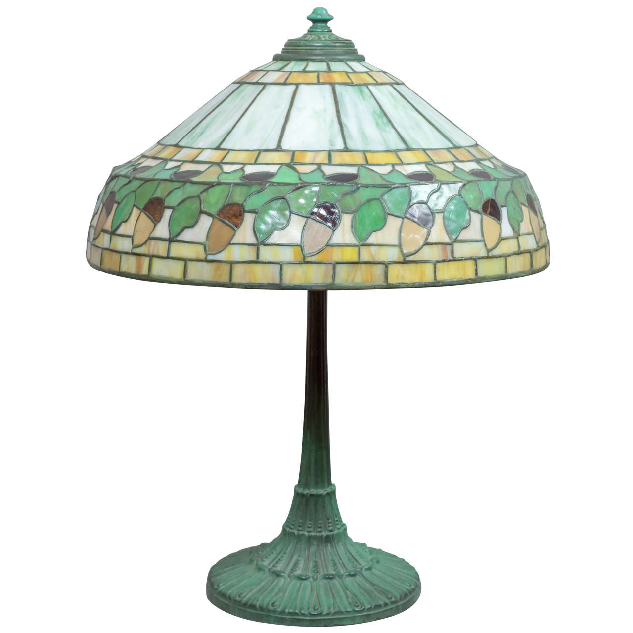 Leaded glass table lamp by wilkinson at 1stdibs this very nice example of the work of the wilkinson company is a rare model aloadofball Choice Image
