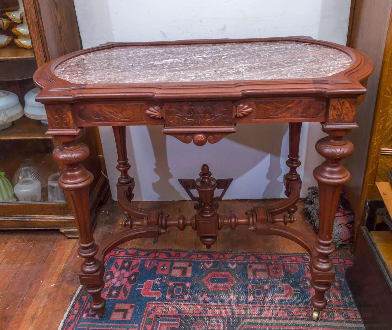 Renaissance Revival Victorian Library Table At 1stdibs
