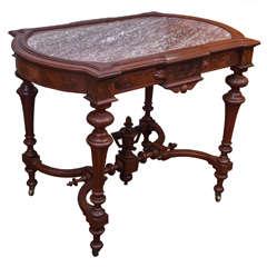 Renaissance Revival Victorian Library Table