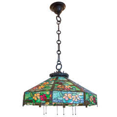 Leaded Glass Hanging Dome by Handel