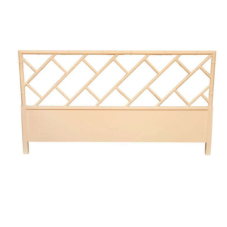 Chinese Chippendale Bed : Faux Bamboo Chinese Chippendale Style Headboard at 1stdibs