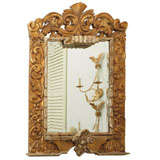 Magnificent Antique Italian Giltwood Mirror (4.5 ft.)