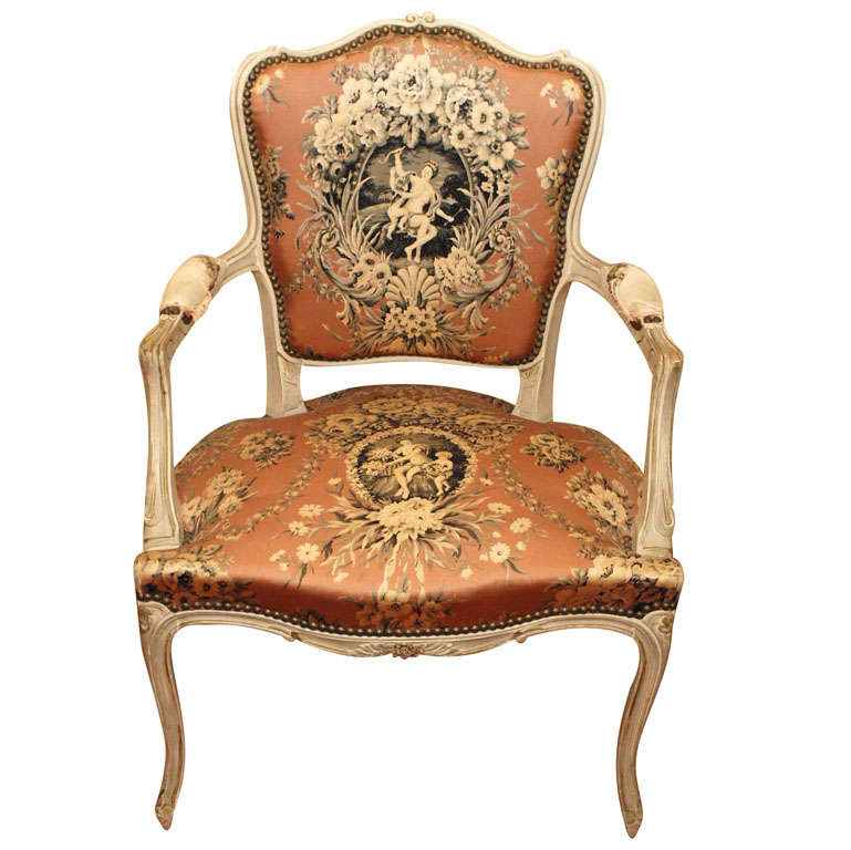 Chair french louis xv style chair wooden dining chair louis arm chair - Late 19th C French Louis Xv Arm Chair At 1stdibs