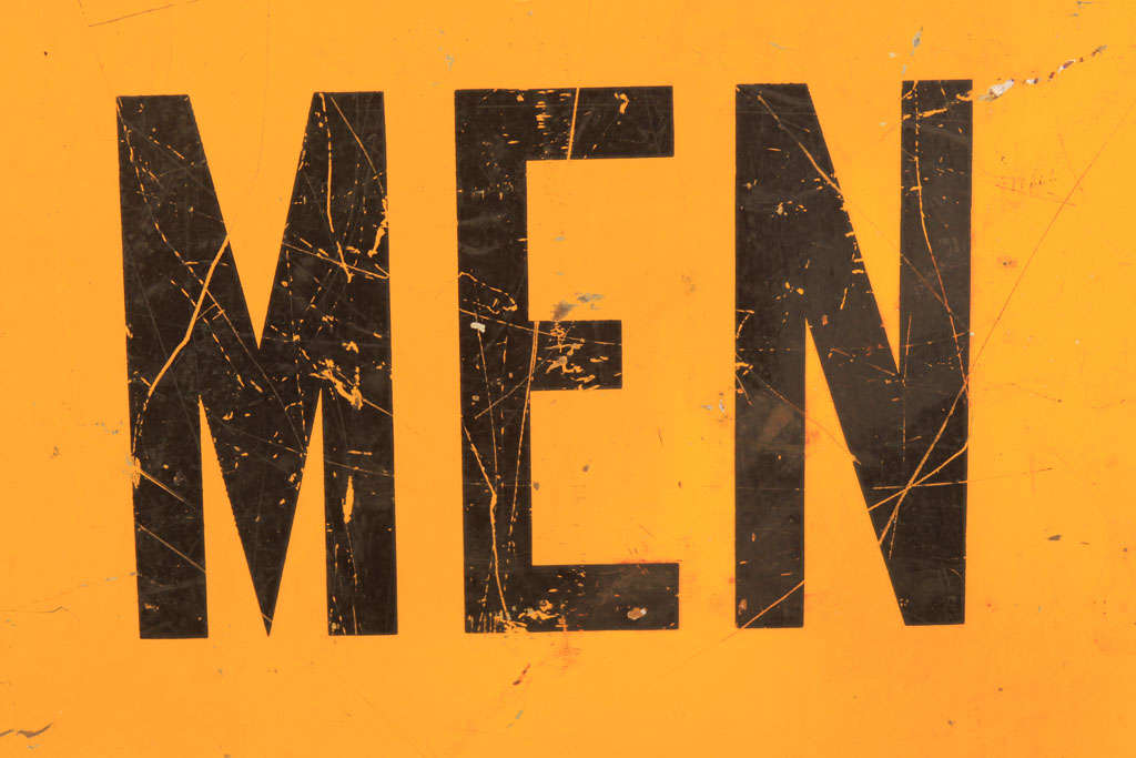 American Men Working Utility Workman Sign For Sale