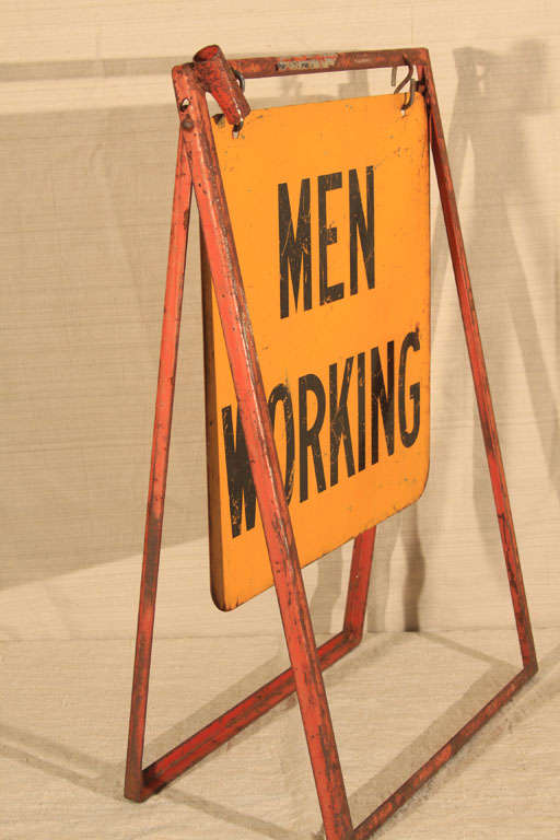 Men Working Utility Workman Sign For Sale 3