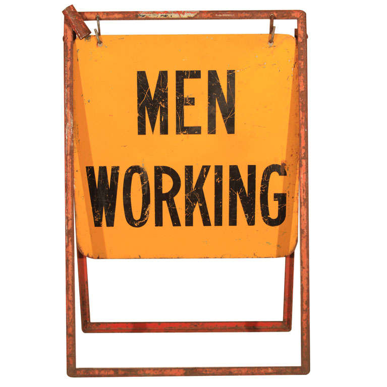 Men Working Utility Workman Sign For Sale