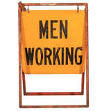 Men Working Utility Workman Sign