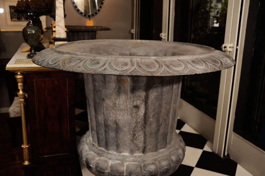 20th Century Pair of Cast Iron Urns For Sale