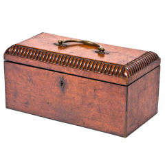 William VI Burr Walnut Tea Caddy