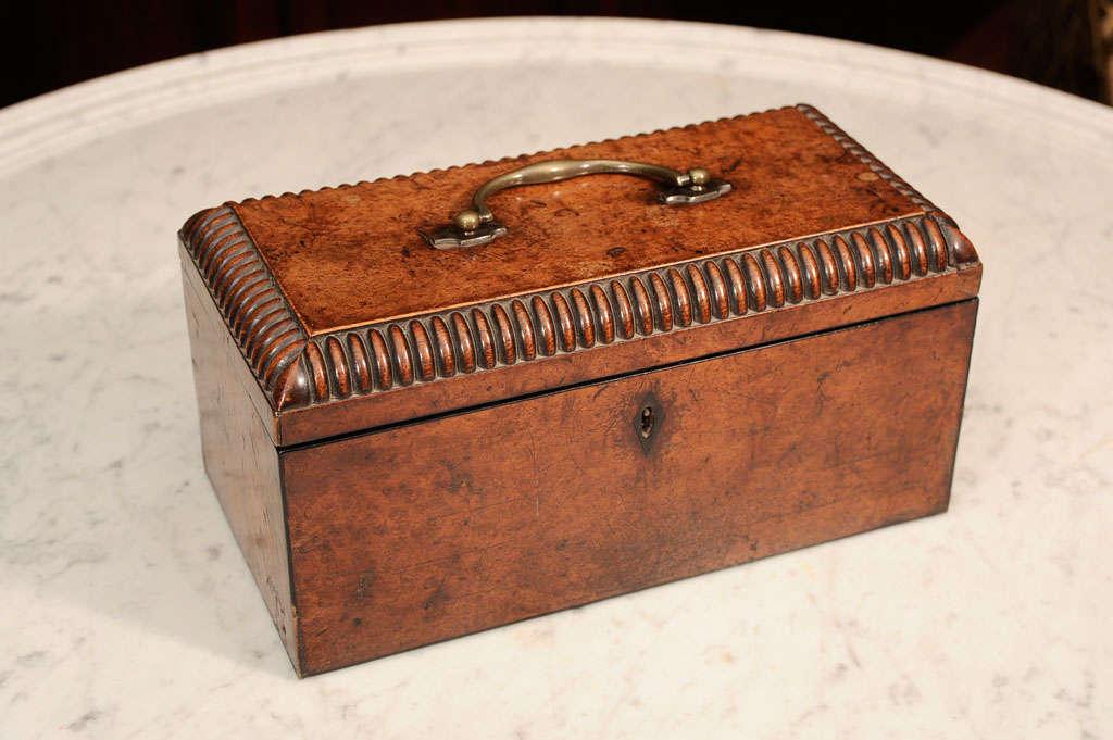 William VI Burr Walnut Tea Caddy 8