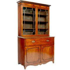 Sheraton Mahogany Bureau Bookcase