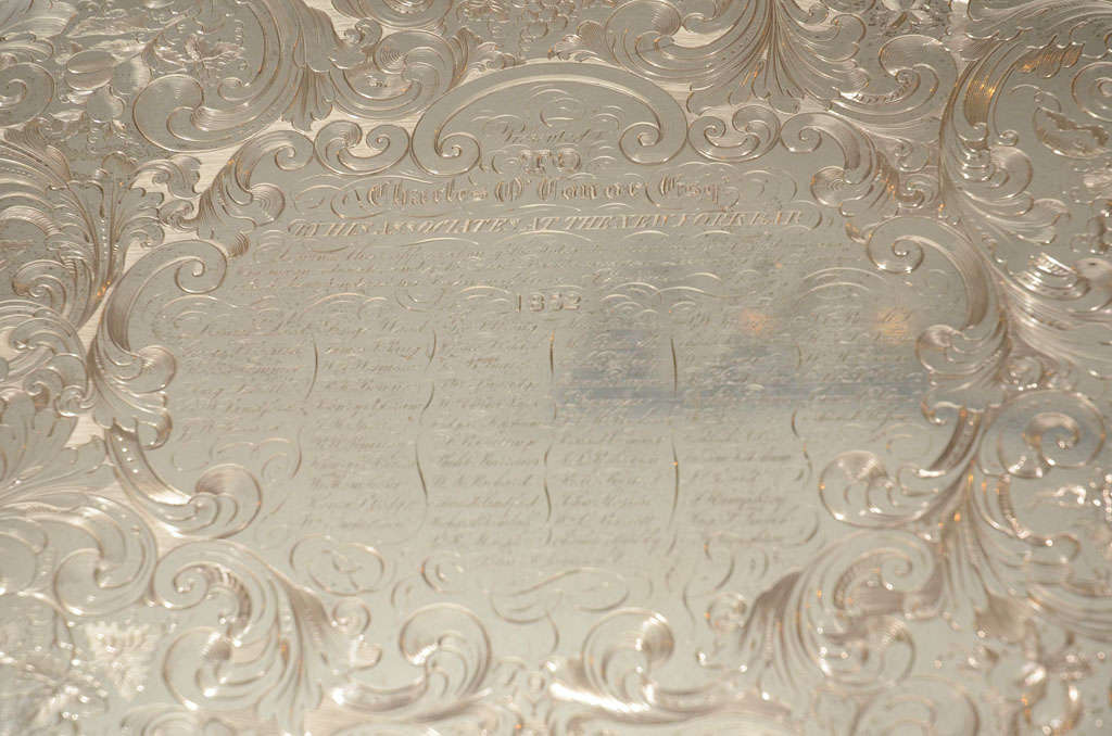 A Stunning American Silver Two Handled Presentation Tray image 9