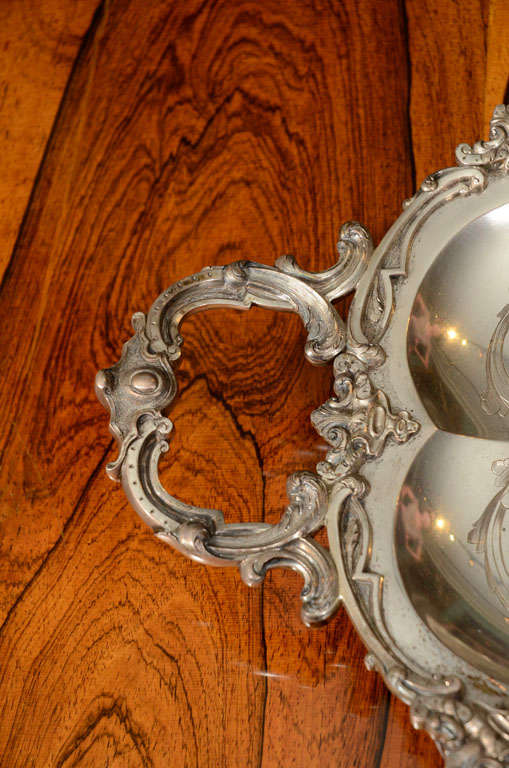 A Stunning American Silver Two Handled Presentation Tray image 3