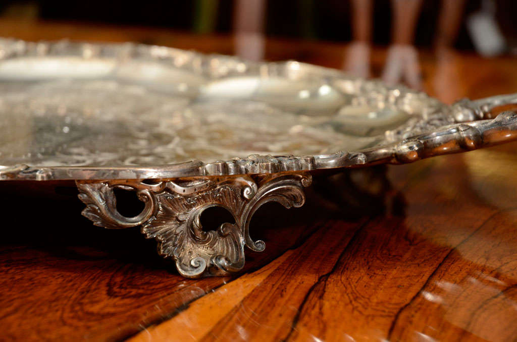 A Stunning American Silver Two Handled Presentation Tray image 5