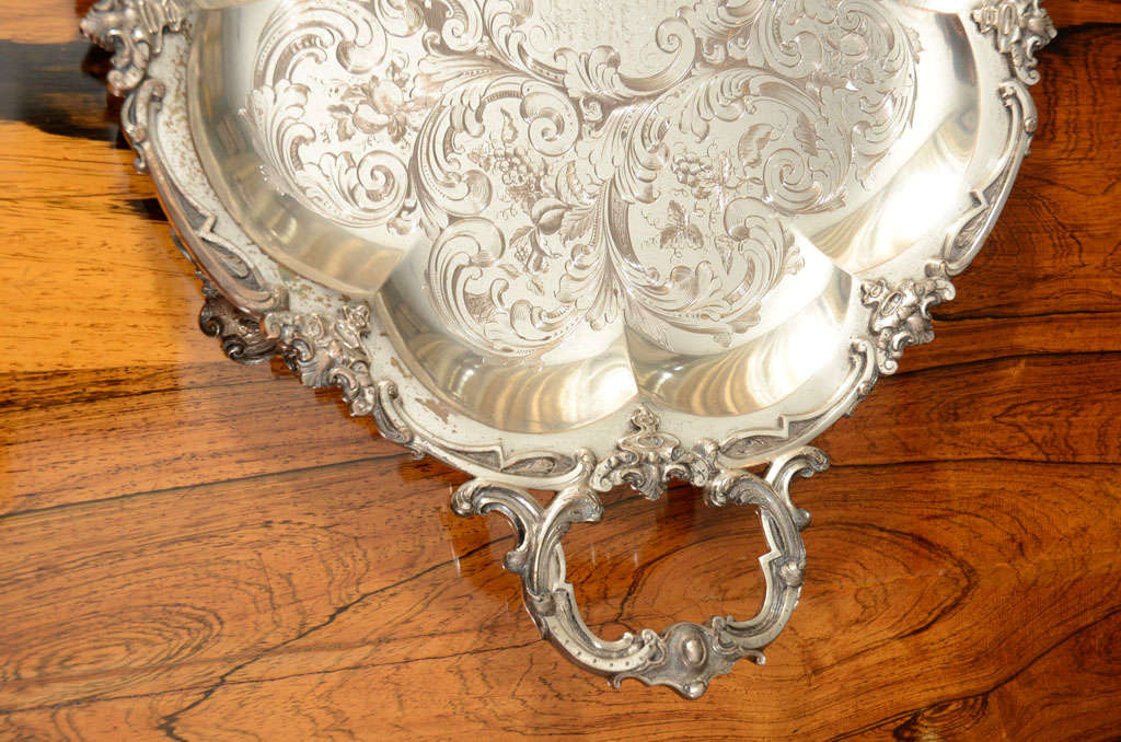 A Stunning American Silver Two Handled Presentation Tray image 8