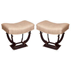 Pair of Art Deco style Sword Benches