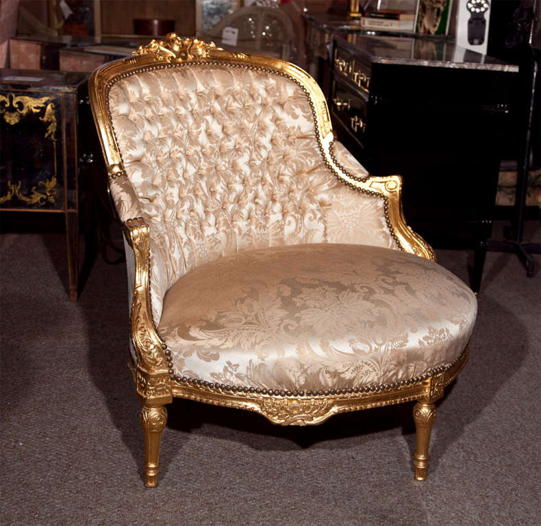 French Louis XVI Style Corner Chair 2