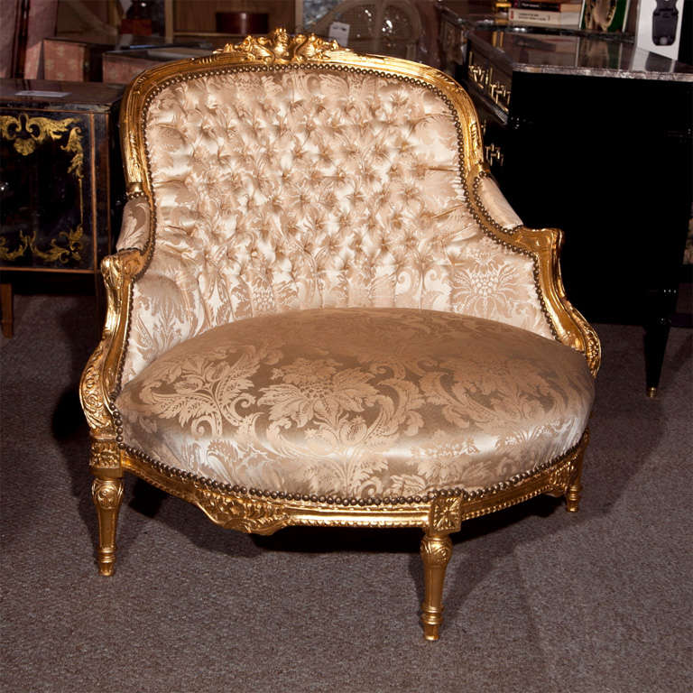 French Louis XVI Style Corner Chair 4