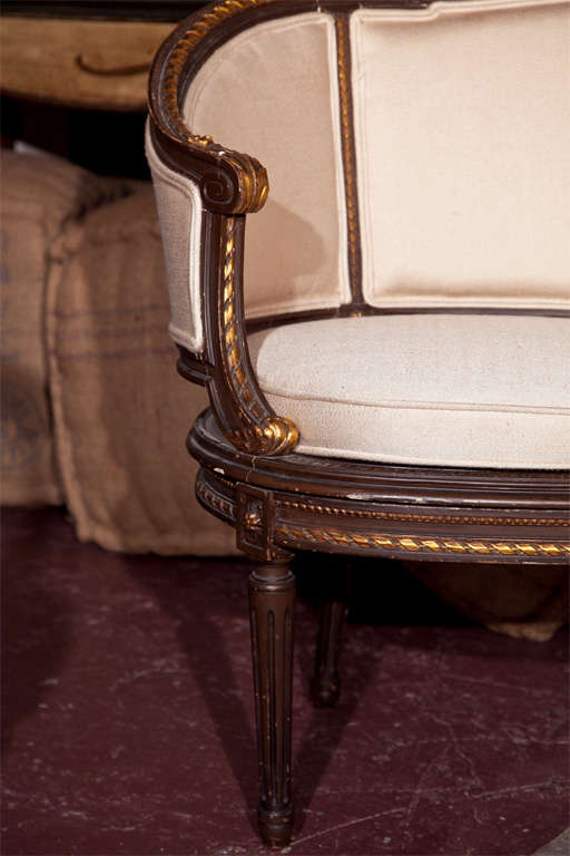louis xvi canape signed guillaume grohe at 1stdibs. Black Bedroom Furniture Sets. Home Design Ideas