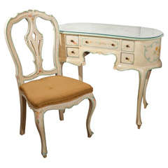 French Painted Vanity Set