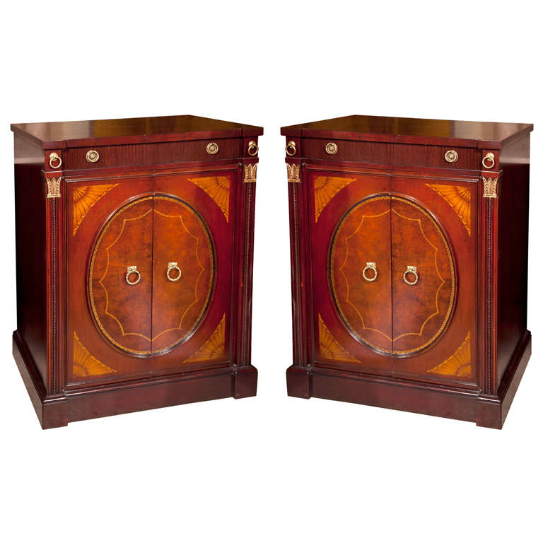 Pair of Mahogany Two-Door Cabinets