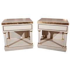 Pair of White Painted End Tables/Nightstands